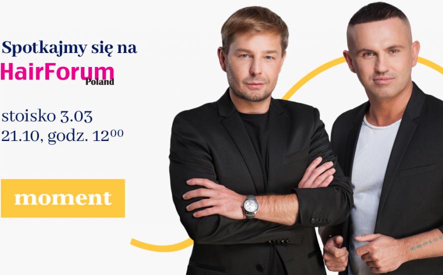 Andrzej Wierzbicki i Tomasz Schmidt z Moment.pl na Hair Forum Poland