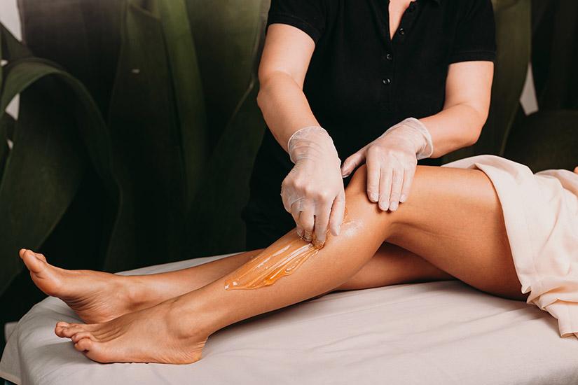 Widok depilowanych nóg