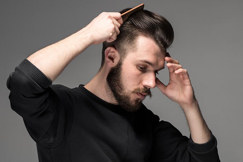 Męskie fryzury - blowout