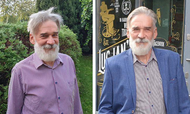 Lucjan's Barber Shop przed i po