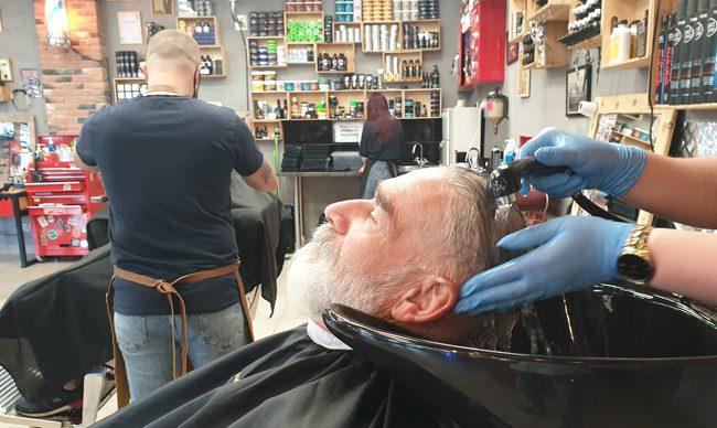 lucjan's barber shop mycie