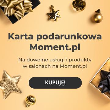 Karta podarunkowa do salonów fryzjerskich i kosmetycznych z Moment.pl!