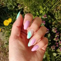 Wiosenny manicure-Instagram-@pati_lenki