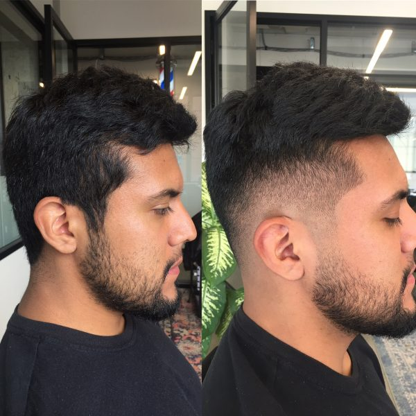 client fade before and after photo