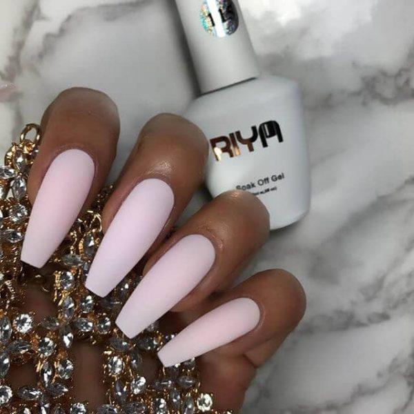 pink pastel acrylics
