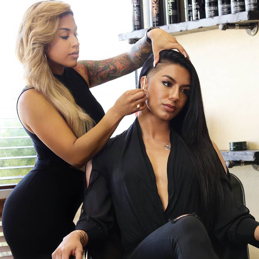 Christy Clips with female model