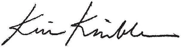 Kim Kimble signature