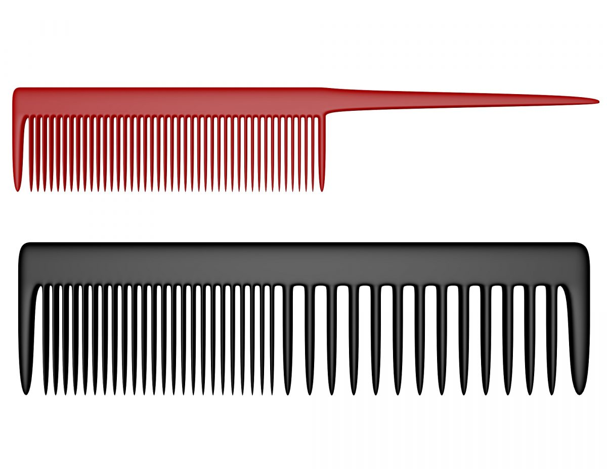 wide and fine tooth combs