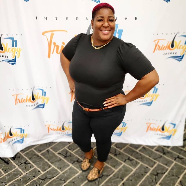 Adriana Jenkins attending conference