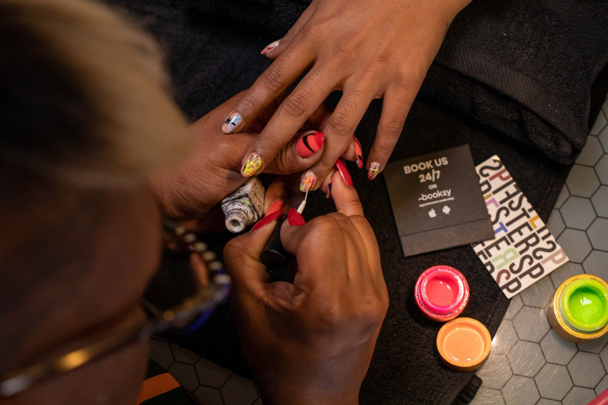 Example of summer nail trend, individual style