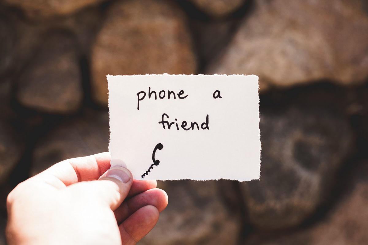 Phone a friend message