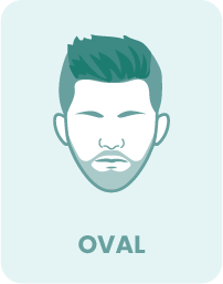 An example of the oval face shape and beard style.
