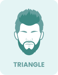 Example of triangle face with beard.