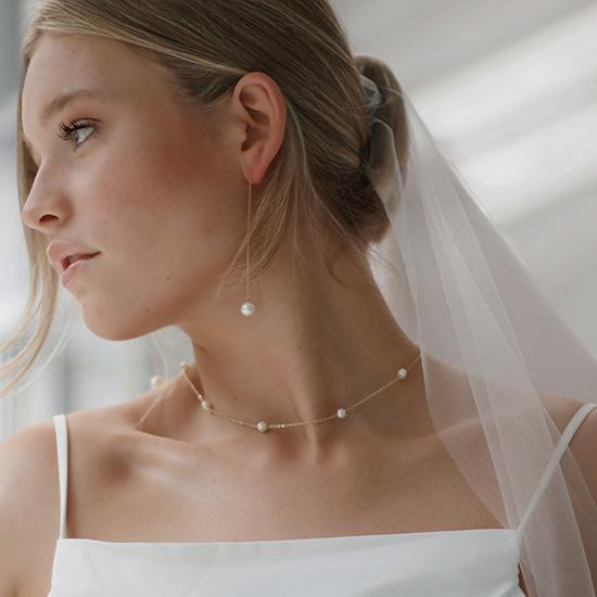 Simple, fresh wedding makeup