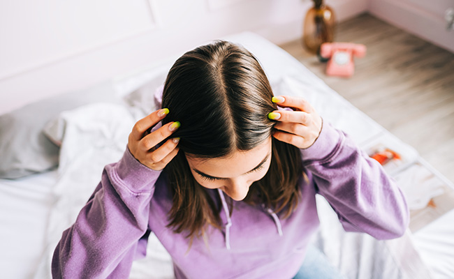 example of a healthy scalp