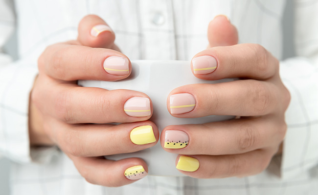 An example of an achieved soft muted nail look.