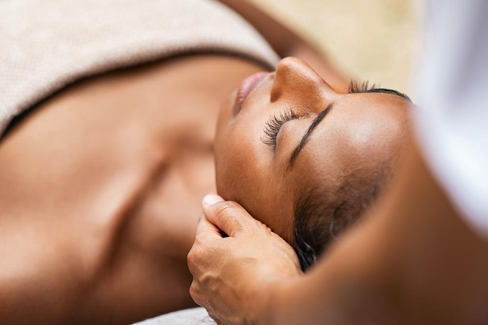 Photo of someone enjoying their spa treatment.