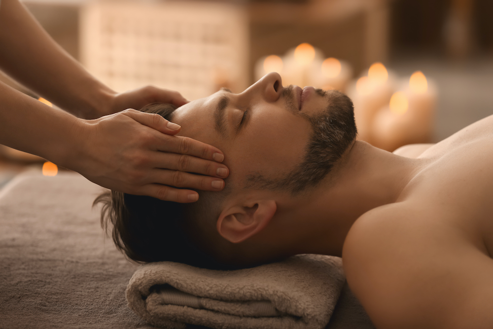 A man getting a therapeutic massage.